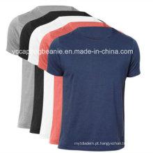Camisa em branco relativa à promoção de T, camisa de T, camisa barata de T