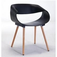 PP пластиковые стул с бук деревянные ноги