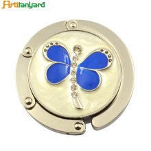 China New Product for Round Bag Hanger,Custom Round Bag Hanger,Round Handbag Hook Manufacturers and Suppliers in China Round Butterfly Bag Hanger With Metal supply to Japan Exporter