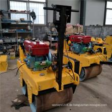 2 * 600mm Stahltrommel Preis Mini Vibrator Straßenwalze
