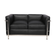 Replica lederen Le corbusier LC2 loveseat