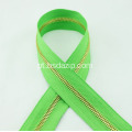 Brass No. 3 Green Zipper para saco