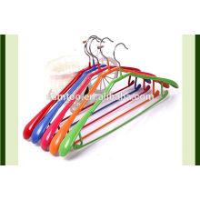 PVC-Kleiderbügel Metalldraht PVC-beschichtete bunte Kleiderbügel