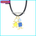 Fashionable Cute Enamel Metal Boy Charm Necklace