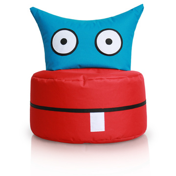 kids bean bag chair in owl shape