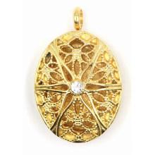 Модные золотые украшения из нержавеющей стали духи Locket подвеска ювелирные изделия