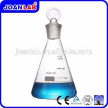 JOAN LAB Venta caliente de vidrio frasco cónico con tapón de tierra de vidrio