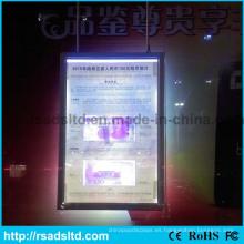 Caja de luz delgada del marco del cartel de China LED