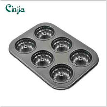 6 Cup Aluminun Aolly Madeleine Pancavity Nonstick Bakeware