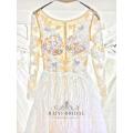 Alibaba venta caliente de manga larga una línea vestido de novia vestido de novia