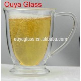Wholesale Transparent Handle Double Wall Glass For Drinking