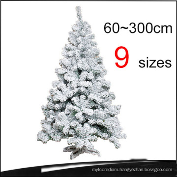 Flocked Snowing PVC Artificial Christmas Trees with 9 Sizes