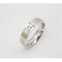 Trendy CZ Pedra Anel de noivado de cristal do casamento