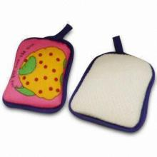 Bath Sponge with Heat Transfer Printing, Suitable for Promotional Purposes