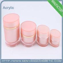 2015 nouvelles bouteilles de cosmétiques en gros Bouteilles acryliques en lotion en argent pour cosmétiques