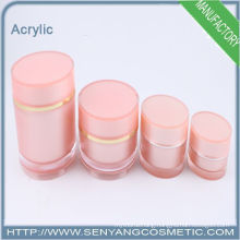 2015 new wholesale cosmetic bottles Silver lotion acrylic bottles for cosmetic