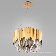 Modern Lobby Chinese Crystal Chandelier Lamp Simple Style Contemporary K9 crystal Pendant Lamp For Home Decorative