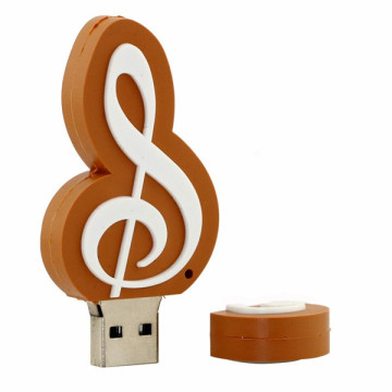 Mini music shape usb flash drive tools