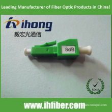 LC APC macho a hembra atenuador de fibra óptica 8dB
