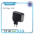 Adaptador de corriente Cargador de viaje USB múltiple para iPad Cargador de pared para iPhone Us / EU / UK / Au Plug