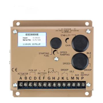 Engine speed governor control panel electric generator