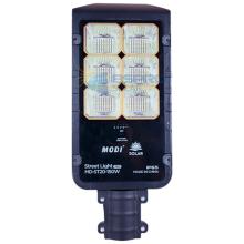 Split solar street light for garage