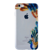 Caixa de telefone de fundo realista Peacock Crown para caso IMD iPhone 6S Plus