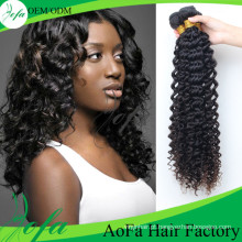 Peruca profunda do cabelo da onda do estilo quente, extensão não processada do cabelo humano de 100%