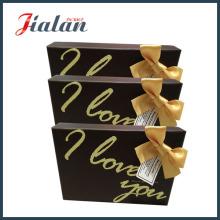 Ventas al por mayor Personalizar Logotipo Impreso Cinta Arco Cartón Caja de papel marrón