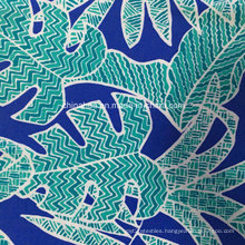 Green Leaf Printing Fabric for Swimwear (HD1401110)