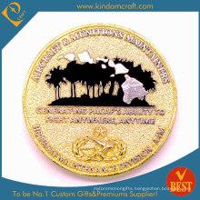 Custom Gold 3D Erosion Souvenir Challenge Metal Coins (LN-078)