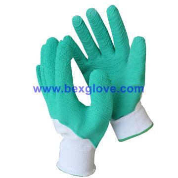 Color Latex Working Glove, Garden Glove