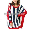 12STC0691 vaguement des États-Unis tricoté des chandails des femmes