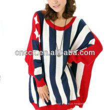 12STC0691 mulheres frouxamente estados unidos blusas de malha