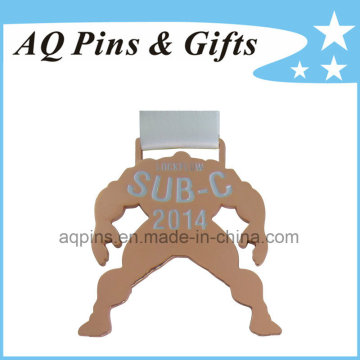 Copper Plating Medal with White Ribbon