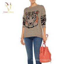 """Hiver manches longues Intarsia Cachemire Knit Knitted Woolen Pull Designs pour dames"""
