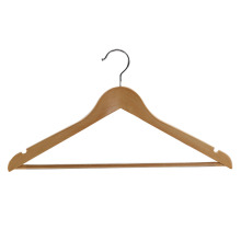 Chrome Hook Non Slip Bar Solid Wood Hangers