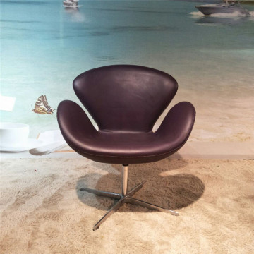 Replica couro Arne Jacobsen Swan Chair
