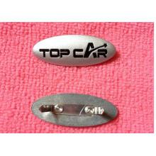 Оптовая изготовленный на заказ эмблема логотип металлическая этикетка для одежды аксессуары