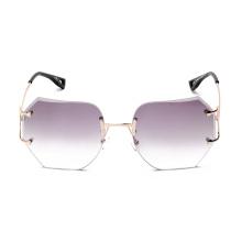 kl1603 mode frauen sonnenbrille pink vintage übergroße randlose brille