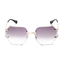 kl1603 fashion women sunglasses pink vintage oversize rimless glasses