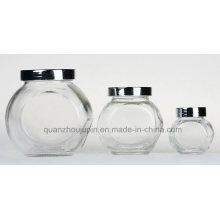 OEM/ODM Storage Glass Jar with Metal Lid for Candy Spice