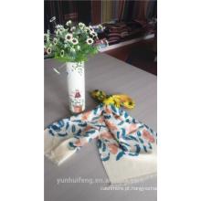 Casaco de lenço de estilo impresso quente e confortável