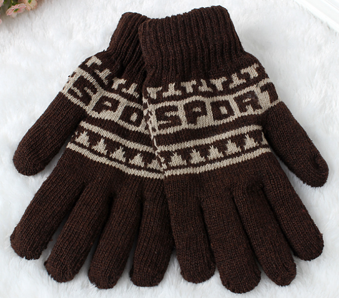 Jacqaurd Acrylic Winter Knitting Gloves