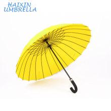 Importações chinesas Atacado Hotel Duplo Uso Auto Aberto Agradável Barato Personalizado Impressão Chuva Guarda-chuva Amarelo 24 Costelas para Presente Relativo À Promoção