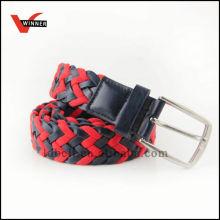 Cinto de corda de couro trançado ecológico