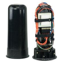 Fermeture d'épissure à fibre optique extérieure à 96 côtés verticale, prix de fermeture d'épissure à fibre optique 24 cœurs