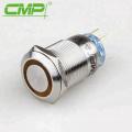 Interruptor iluminado con interruptor de botón pulsador de 19 mm Interruptor de luz (1 NO, momentáneo)