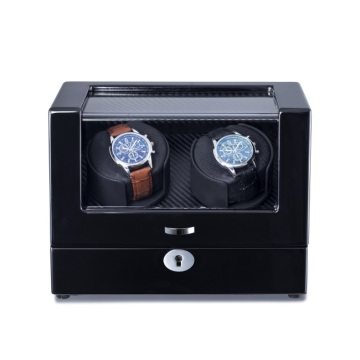 2 Rotors Balck Finish Watch Winder