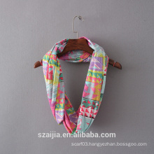 Ladies print knitted infinity scarf